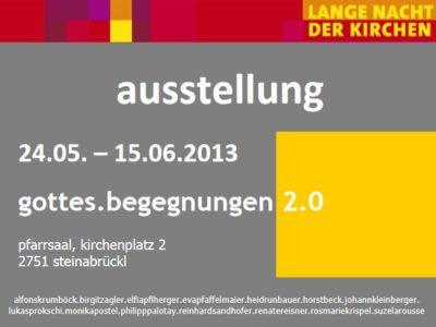 2013 – gottes.begegnungen 2.0