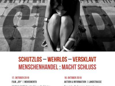 2019 – Schutzlos – Wehrlos – Versklavt  //  Menschenhandel : Macht Schluss